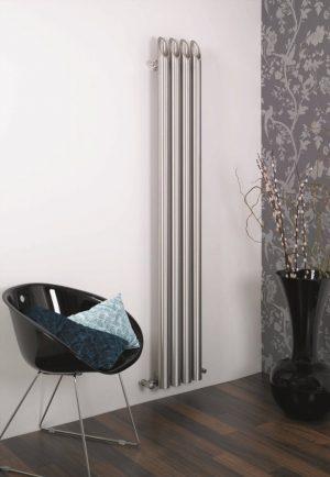 verticale design radiator rvs woonkamer keuken barok