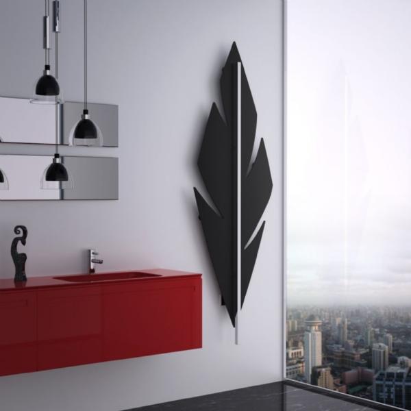 luxe badkamer radiator zwart