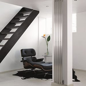 design radiator verticaal woonkamer rvs canti