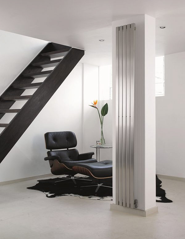 verticale design radiator woonkamer rvs canti