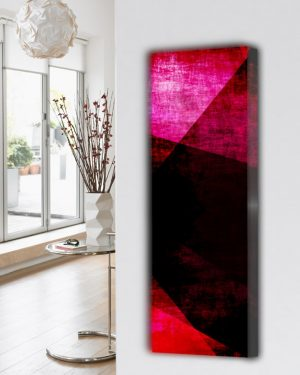 verticale design radiator woonkamer keuken abstract-4
