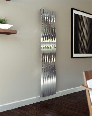 design radiator verticaal woonkamer keuken rvs essa