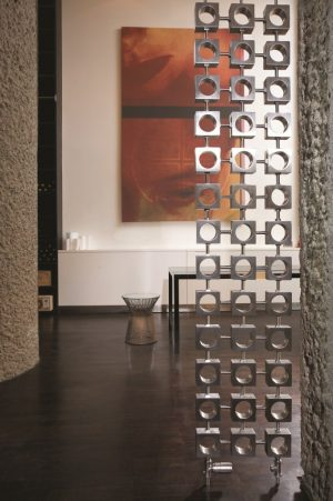 verticale design radiator rvs santomi woonkamer keuken