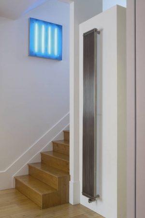 verticale design radiator rvs woonkamer keuken hal talano