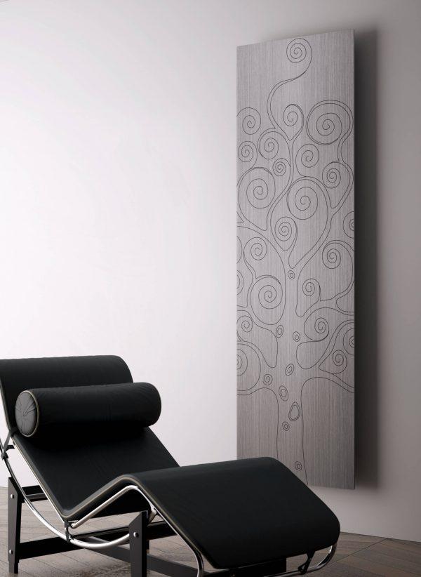 verticale design radiator woonkamer tree