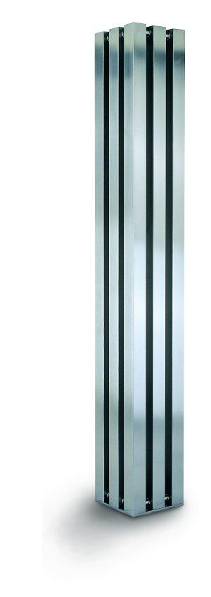 verticale vrijstaande design radiator woonkamer rvs vitan