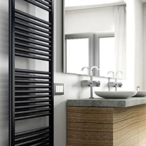design radiator badkamer mat zwart